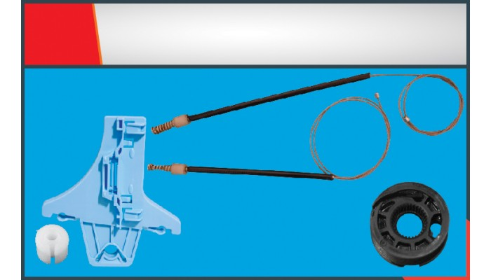 POLO (2010-2014) WINDOW REGULATOR CABLE REAR LEFT ...
