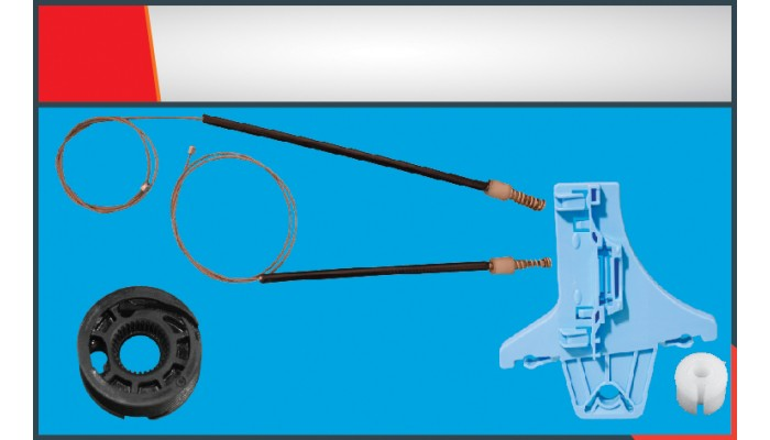 POLO (2010-2014) WINDOW REGULATOR CABLE REAR RIGHT...