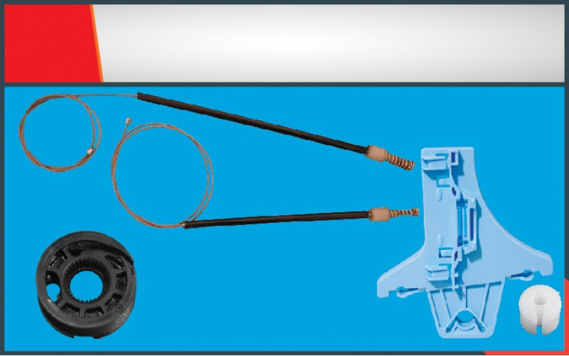 POLO (2010-2014) WINDOW REGULATOR CABLE REAR RIGHT SET