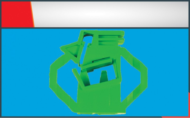 POLO CLASSIC WINDOW REGULATOR CLIP FRONT LEFT (GREEN)