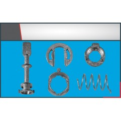 DOOR LOCK LOCKING BAR MEDIUM SIZE (2) SET(58mm)