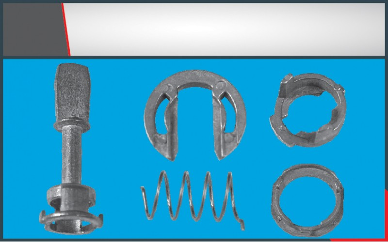 DOOR LOCK LOCKING BAR SMALL (4) SET (45mm)