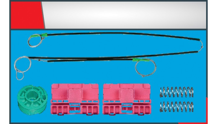 A6 WINDOW REGULATOR CABLE FRONT- LEFT SET
